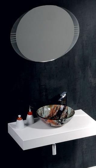 Włoska umywalka nablatowa w kolorze kamienia