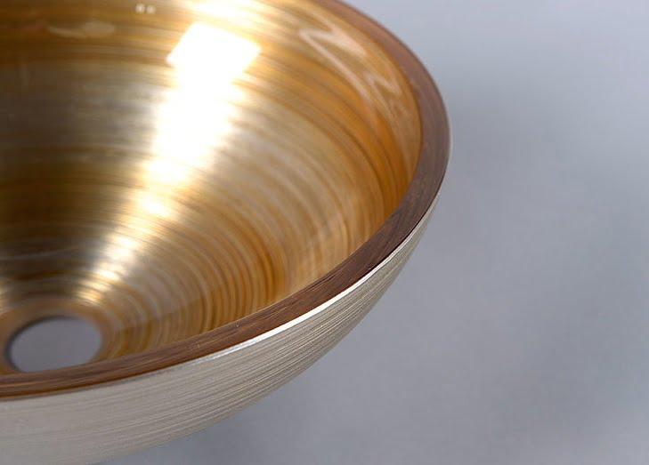 Zbliżenie - uywalka szklana nablatowa soft brown