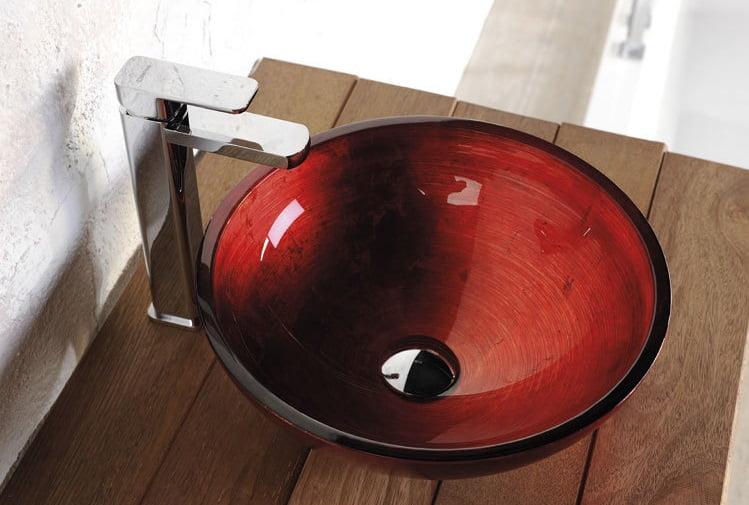 Włoska szklana umywalka nablatowa Murano