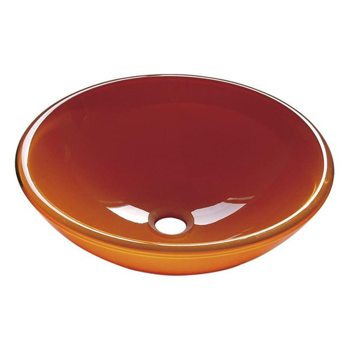 Szklana wyprodukowana we Włoszech umywalka nablatowa pomarańczowa