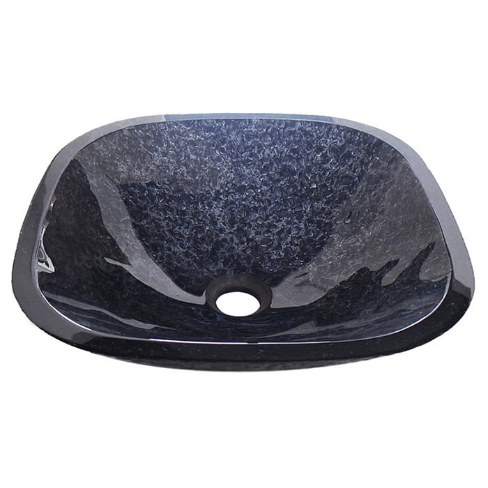 Czarna umywalka nablatowa wykonana z Włoskiego szkła