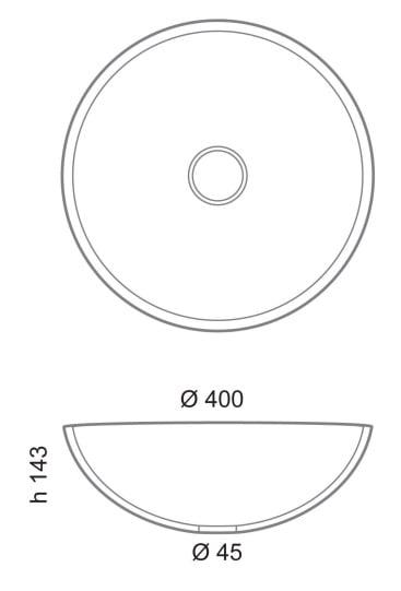 Rysunek techniczny umywalki