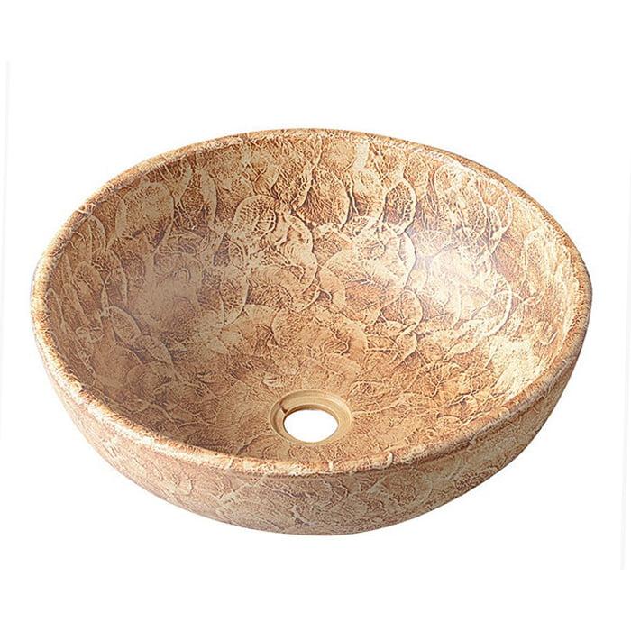 Umywalka nablatowa ceramiczna PRIORI brązowa