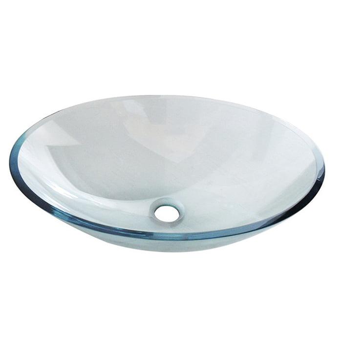 Szklana umywalka nablatowa owalna przezroczysta Włoska