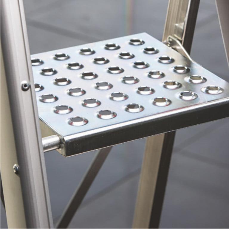 Drabina aluminiowa z wytrzymałym podestem