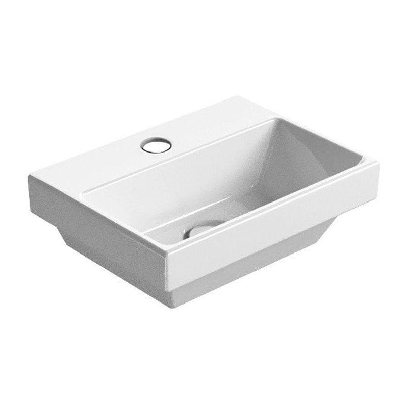Biała umywalka NORM ceramiczna 35x12x26 cm