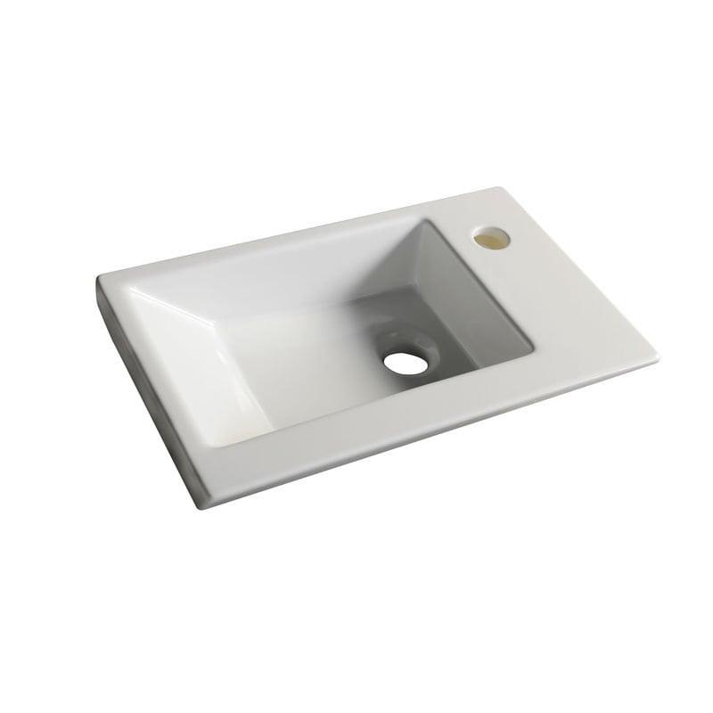 Biała umywalka meblowa ZORAN 45x27,5 cm