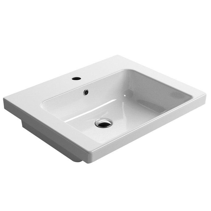 NORM biała umywalka ceramiczna 60x18x50cm GSI-extraglaze