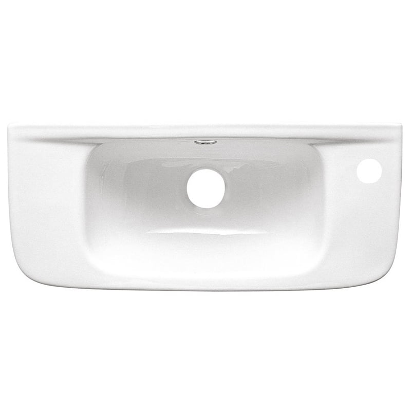 Biała umywalka 51x22cm