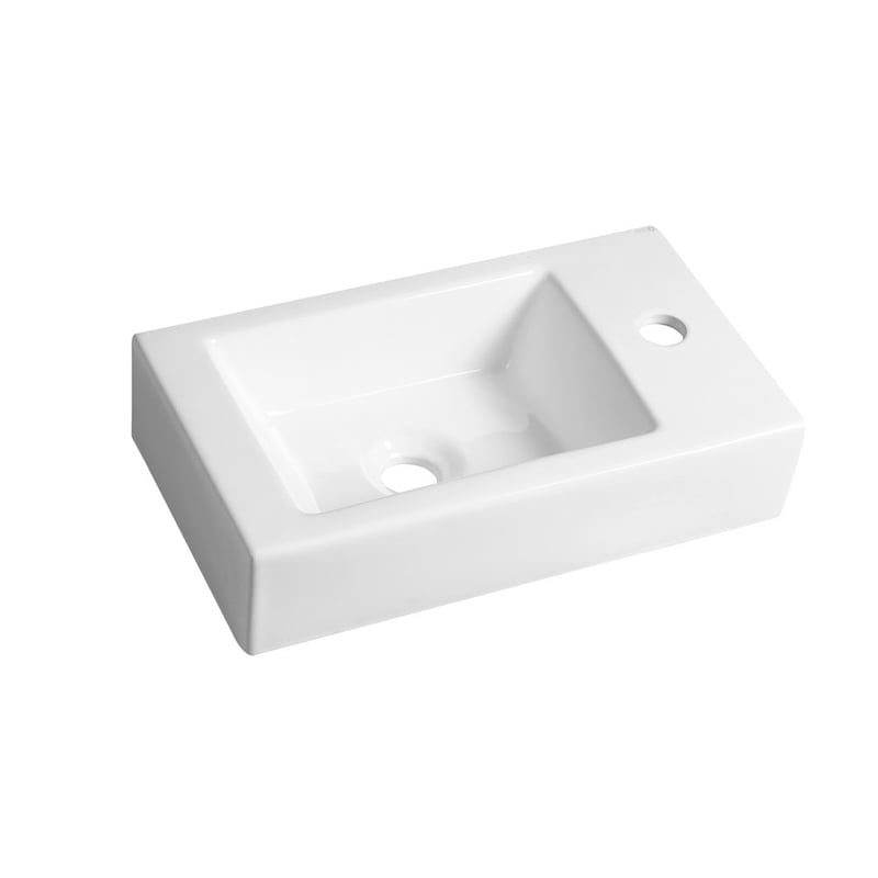 Biała umywalka MELINDA 46x11x26,5cm