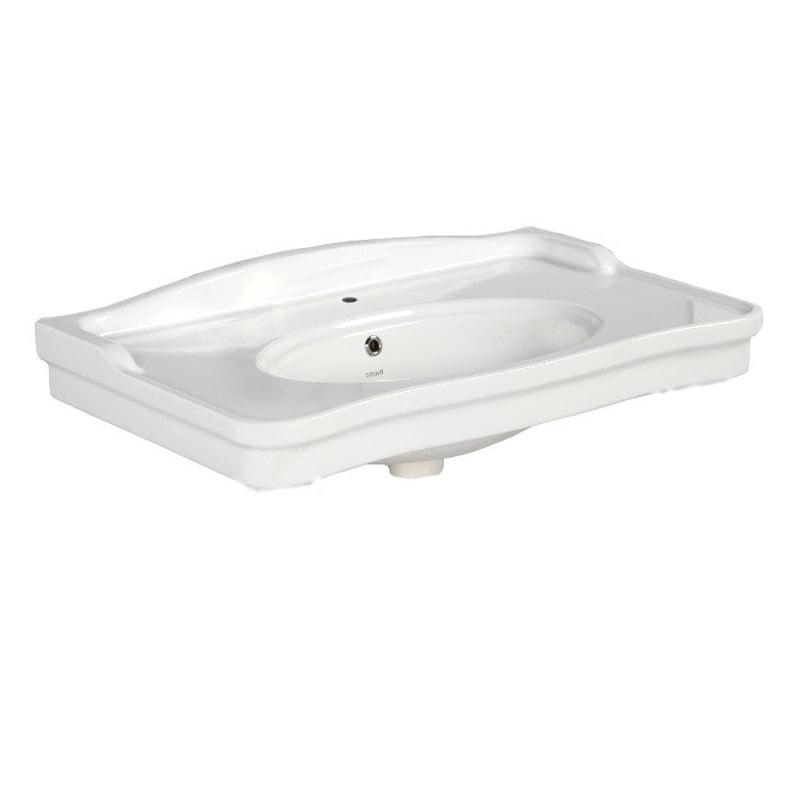 Biała umywalka ANTIK ceramiczna 80x50 cm