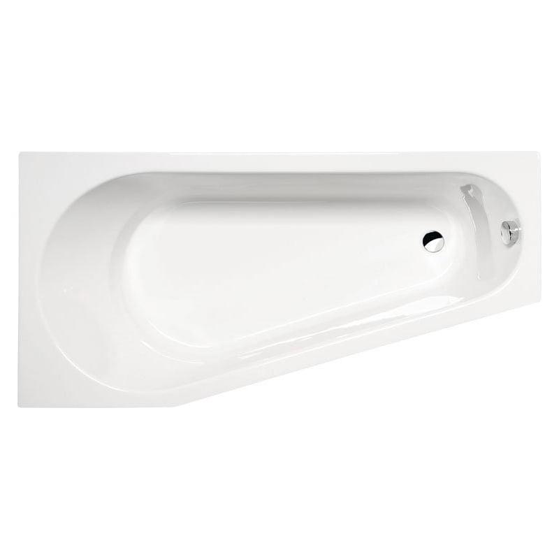 PROJEKTA biała wanna asymetryczna z nogami 160x80x44cm, lewa lub prawa