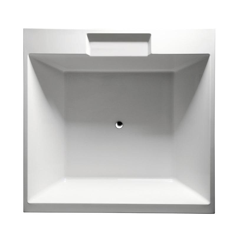 Biała wanna CAME kwadratowa 175x175x50cm z konstrukcją