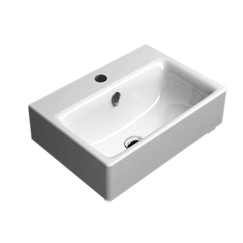 Biała umywalka Sand firmy GSI 55x40cm