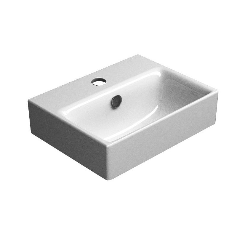 Biała umywalka SAND 40x32 cm