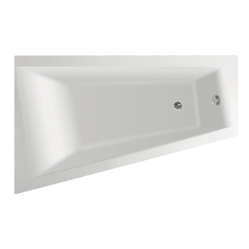 Biała wanna METUJE 160x100x42cm, lewa lub prawa