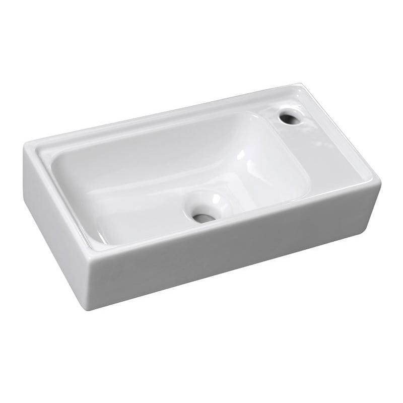 Biała umywalka ceramiczna ORION 50x25cm