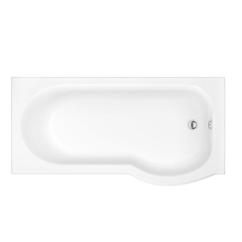 SKALICE biała wanna asymetryczna ze strefą prysznicową 168x85/75x40cm, prawa lub lewa