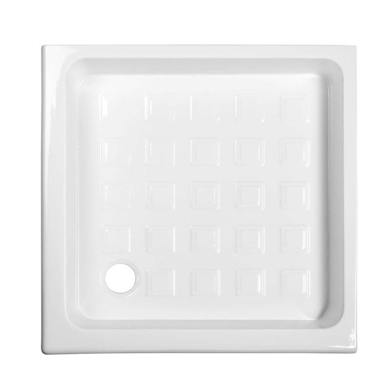 Biały brodzik prysznicowy RETRO ceramiczny 90x90x20