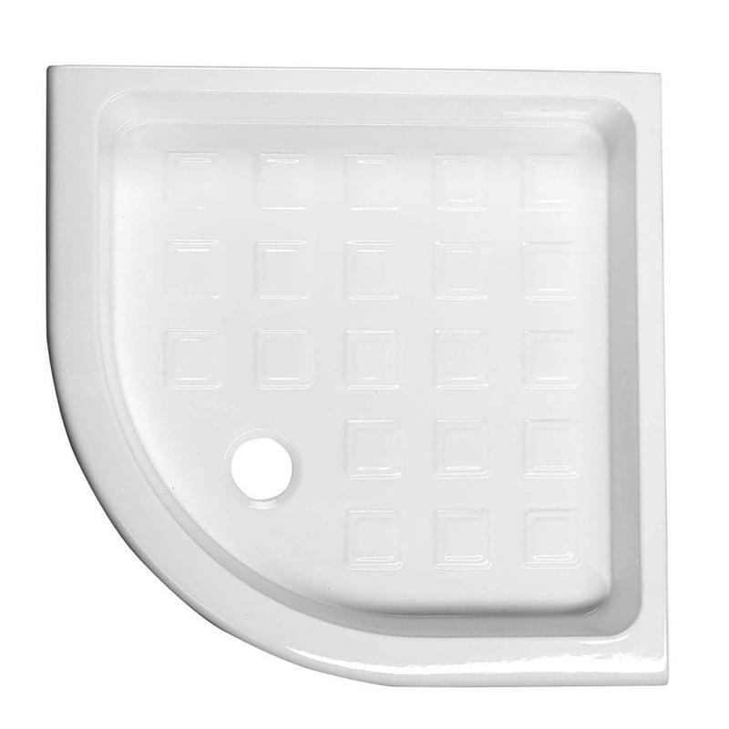 Biały brodzik prysznicowy RETRO ceramiczny 90x90x20 R-550 półokrągły