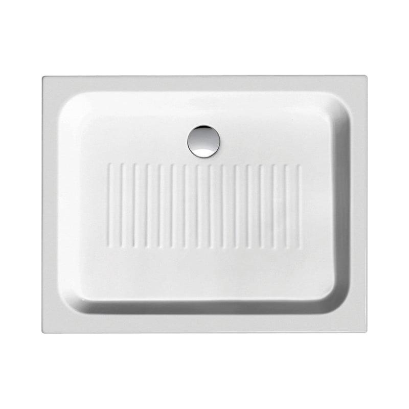 Biały brodzik prysznicowy ceramiczny 90x72x11