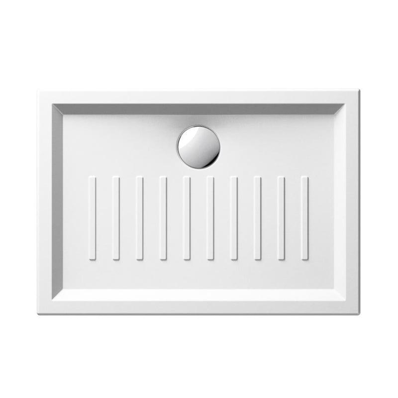 Biały brodzik prysznicowy ceramiczny SLIM 70x100x6 cm