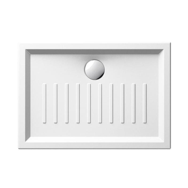 Biały brodzik prysznicowy ceramiczny SLIM 70x120x6 cm