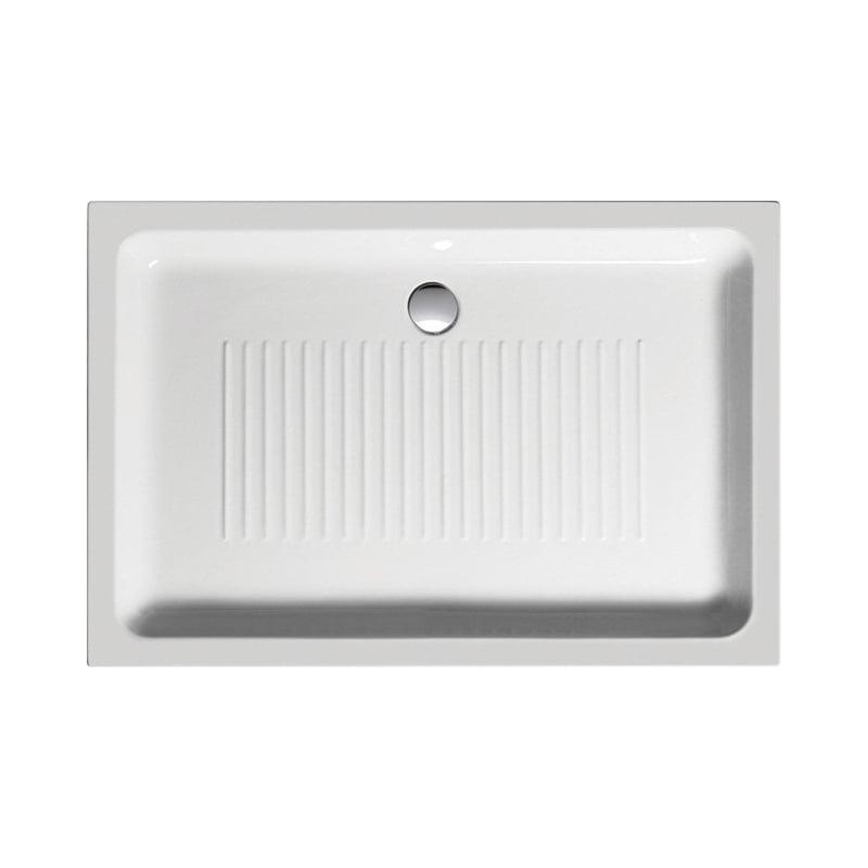 Biały brodzik prysznicowy ceramiczny 120x80x11
