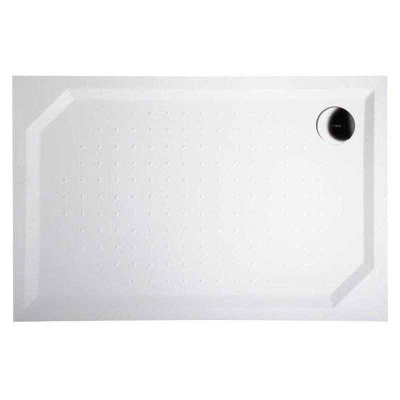 Biały brodzik prysznicowy SLIM Sara 100x80x4 kompozytowy