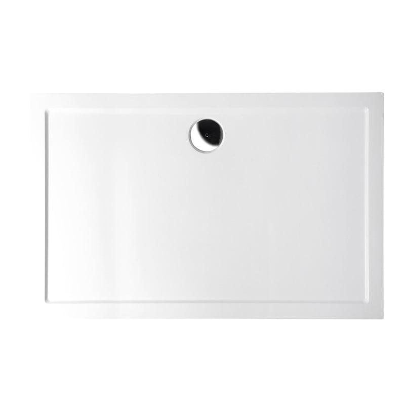 Biały brodzik prysznicowy SLIM Karia 100x80x4 kompozytowy