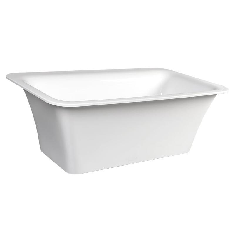 SAIMA biała wanna wolnostojąca akrylowa 176x95x60 cm