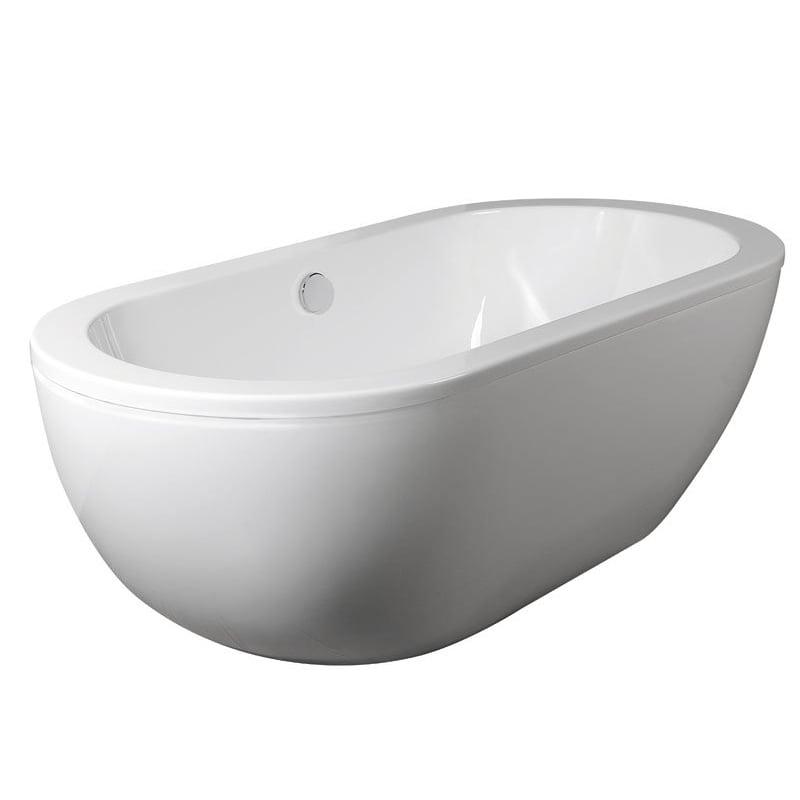 BLANICE biała wanna wolnostojąca akrylowa 181x86x58 cm