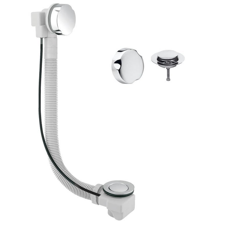 Syfon wannowy automatyczny (przelew) SENATOR click-clack chrom, dł. 700mm, korek 42mm