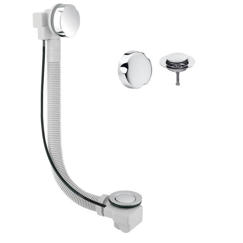 Syfon wannowy automatyczny (przelew) SENATOR click-clack chrom, dł. 700mm